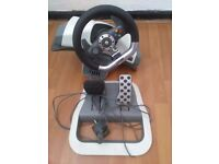 Wheel and pedals for Xbox or Playstation