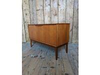 Danish style teak record cabinet 1960s (TV stand?) mid century modern vintage retro gplanera