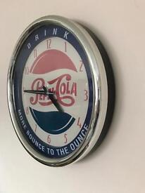 Original Pepsi Cola vintage collectable clock