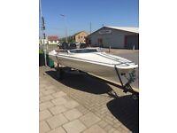 Mustang speedboat 14ft with mercury 75hp