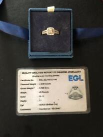 WHITE GOLD DIAMOND RING ££££