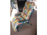 Reclining Garden Conservatory High Back Chair / Lounger. Very comfortable, thick padding