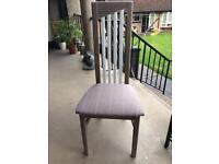 Upcycled tall backed chair