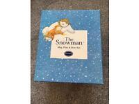 """""""The Snowman"""" mug, plate and bowl gift set"""