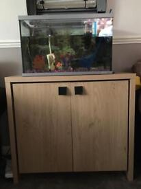 Fluval tank stand and fish tank
