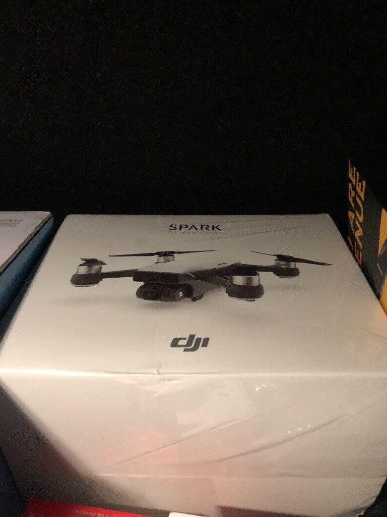Dji Spark Mini Drone Fly More Combo Sky Blue Brand New 1080p Video