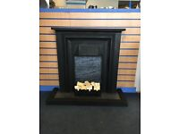 cast iron fire place and hearth