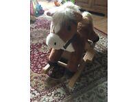 Singing pony Rocking Horse