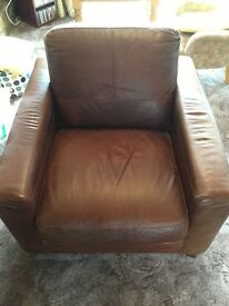 Lovely leather armchair(s), brown, from Vincent Davies