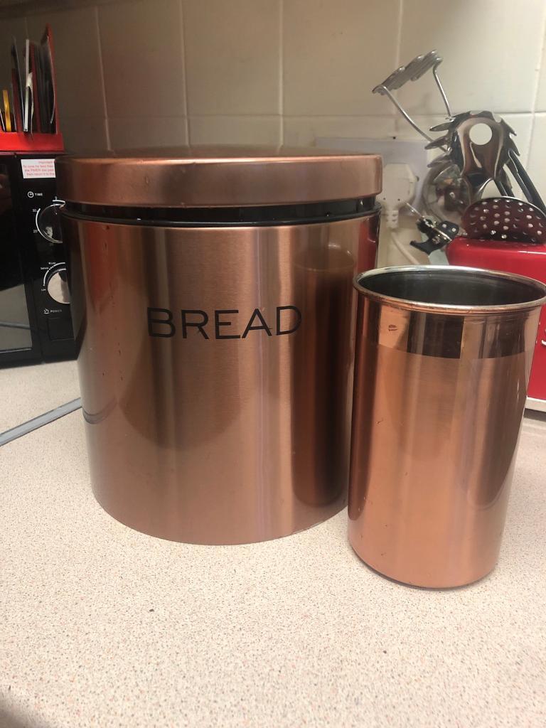 Next Copper Bread Bin And Utensil Holder In Southampton Hampshire Gumtree