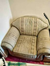 Very comfortable vintage Shell back Armchair Sofa