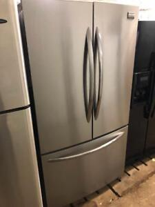 "Frigidaire 36"" Wide Stainless Steel French Door Fridge, Free 30 Day Warranty, Save The Tax Event"