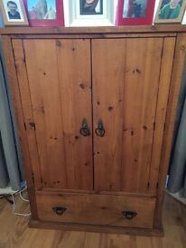 Stong, sturdy wooden TV cabinet