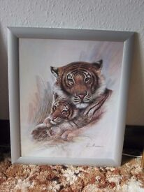 Picture of Tiger and cub