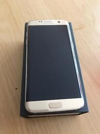 Samsung galaxy s7 edge gold. Excellent condition with box and case