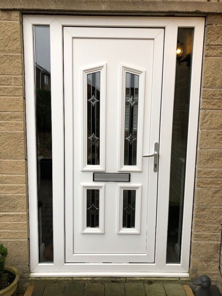 White Upvc Front Door With 2 Glass Side Panels In Sheffield South Yorkshire Gumtree