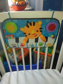 Cot toys and activity cube
