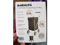 Brand New - Sabichi Angus Tartan Check 4 Wheel Shopping Trolley - L@@K!!