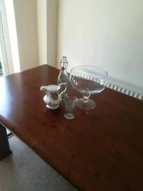 4 Items of Glassware and china