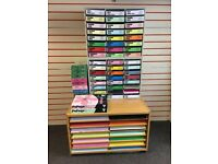 Selection of paper and card plus display units