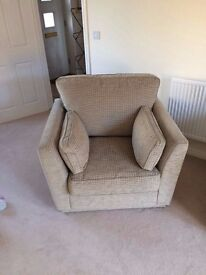 G Plan 3 Seater Sofa, Armchair and Storage Footstool