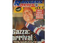 Rangers news from 1992 till 1995 all good conditio