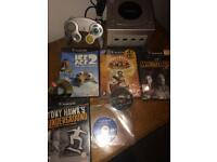 Silver Nintendo GameCube and games