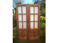 Internal Door Pair - small with a glass panes