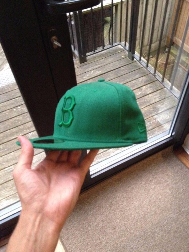 New Era 59/50 Boston Green Flat Peak Cap. Size 7 - 55.8cm NEW