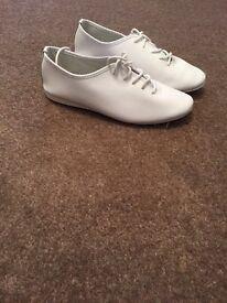 Girls white jazz shoes