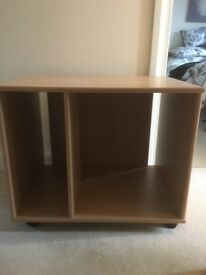Wooden shelves/storage