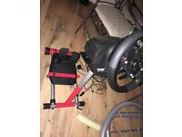 Neally new racing weel and stand!! For XBOX ONE