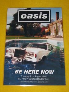 Oasis - Be Here Now -  Laminated Promo Poster