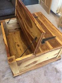 Solid wood coffee table/storage unit