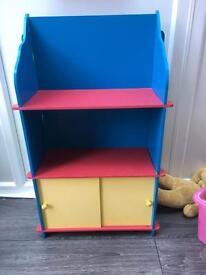 Children's teletubby bookcase