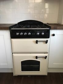 Leisure Twin Oven GAS Cooker in Cream Freestanding