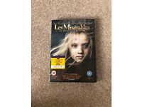 Les Miserables DVD brand new for Xmas
