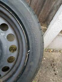 Corsa steel wheel