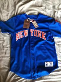check out c4b5b da064 NBA New York Knicks Baseball Jersey Mitchell   Ness Size M