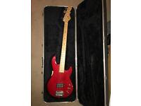 G&L L1500 Bass Guitar Transparent Red, made in USA