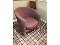 Purple polkadot tub Chair (6 available)