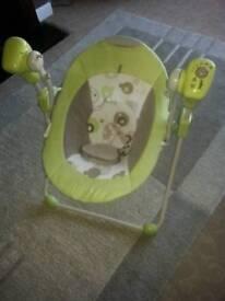 baby musical swing rocker