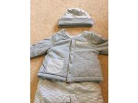 2 warm winter padded outfits 3-6 months unisex. New condition worn once.
