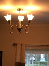 Set of Three Modern Chrome Ceiling Lights