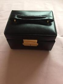 Black Leather Jewellery Box