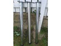 Used Chrome table legs adjustable 3 for £29