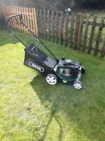 webb self pro petrol mower