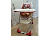 Chicco Polly 2 in 1 Happy Land Highchair 6m+ Reclining chair, Adjustable heigh