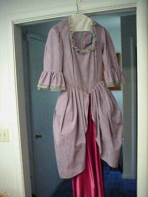 VINTAGE ELIZABETHAN STYLE LADIES LONG DRESS COSTUME W HAT ADJUSTABLE