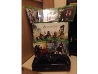 Xbox one with 12 games and 2 wireless controllers